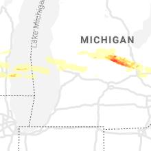 Regional Hail Map for Grand Rapids, MI - Sunday, September 12, 2021