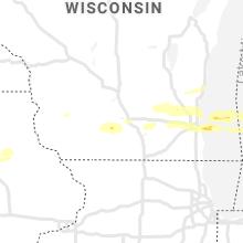 Regional Hail Map for Madison, WI - Sunday, September 12, 2021