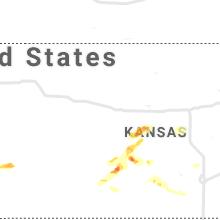 Regional Hail Map for Hays, KS - Tuesday, September 14, 2021