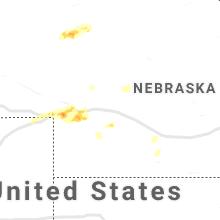Regional Hail Map for North Platte, NE - Thursday, September 16, 2021