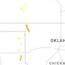 Regional Hail Map for Woodward, OK - Friday, September 17, 2021