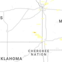 Regional Hail Map for Chanute, KS - Monday, September 20, 2021