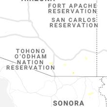 Regional Hail Map for Tucson, AZ - Sunday, September 26, 2021