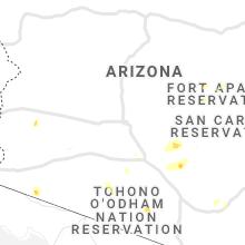 Regional Hail Map for Phoenix, AZ - Wednesday, September 29, 2021