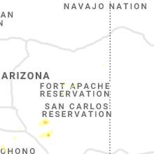 Regional Hail Map for Show Low, AZ - Wednesday, September 29, 2021
