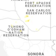 Regional Hail Map for Tucson, AZ - Wednesday, September 29, 2021