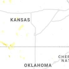 Regional Hail Map for Wichita, KS - Wednesday, September 29, 2021