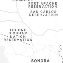 Regional Hail Map for Tucson, AZ - Thursday, September 30, 2021