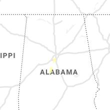 Regional Hail Map for Birmingham, AL - Monday, October 4, 2021
