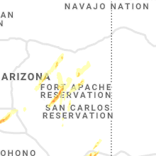 Hail Map for show-low-az 2021-10-05
