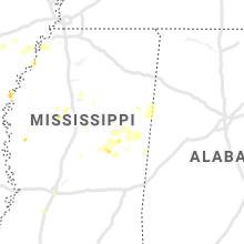 Regional Hail Map for Starkville, MS - Tuesday, October 5, 2021