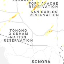 Regional Hail Map for Tucson, AZ - Tuesday, October 5, 2021
