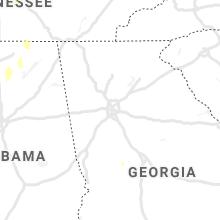 Regional Hail Map for Atlanta, GA - Wednesday, October 6, 2021