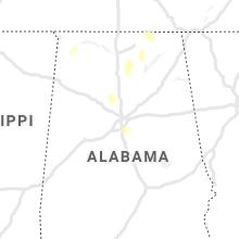 Regional Hail Map for Birmingham, AL - Wednesday, October 6, 2021
