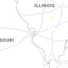 Hail Map for saint-louis-mo 2021-10-07
