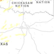 Regional Hail Map for Dallas, TX - Sunday, October 10, 2021