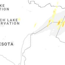 Regional Hail Map for Duluth, MN - Sunday, October 10, 2021