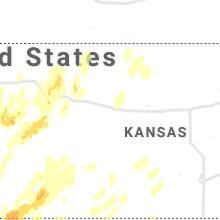 Regional Hail Map for Hays, KS - Tuesday, October 12, 2021