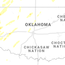Regional Hail Map for Oklahoma City, OK - Tuesday, October 12, 2021