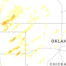 Regional Hail Map for Woodward, OK - Tuesday, October 12, 2021