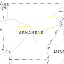 Regional Hail Map for Little Rock, AR - Friday, October 15, 2021
