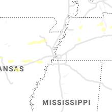 Hail Map for memphis-tn 2021-10-15