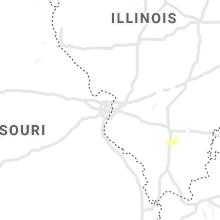 Hail Map for saint-louis-mo 2021-10-15