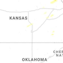 Regional Hail Map for Wichita, KS - Saturday, October 23, 2021