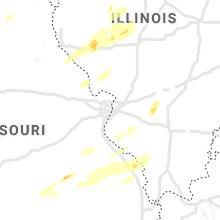 Regional Hail Map for Saint Louis, MO - Sunday, October 24, 2021