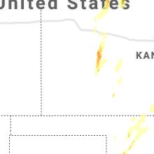 Regional Hail Map for Garden City, KS - Tuesday, October 26, 2021