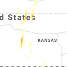 Regional Hail Map for Hays, KS - Tuesday, October 26, 2021