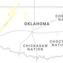 Regional Hail Map for Oklahoma City, OK - Tuesday, October 26, 2021