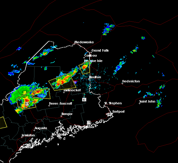 Radar Image for Severe Thunderstorms near Mars Hill, ME at 8/4/2015 2:36 PM EDT