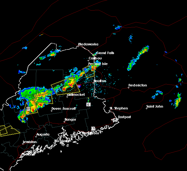 Radar Image for Severe Thunderstorms near Mars Hill, ME at 8/4/2015 2:56 PM EDT