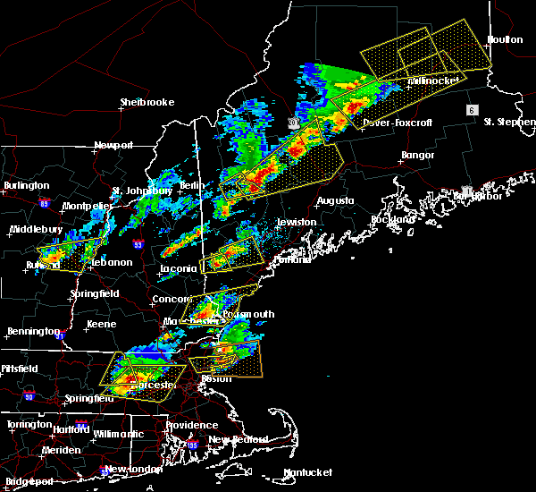 Radar Image for Severe Thunderstorms near Dixfield, ME at 8/4/2015 3:29 PM EDT