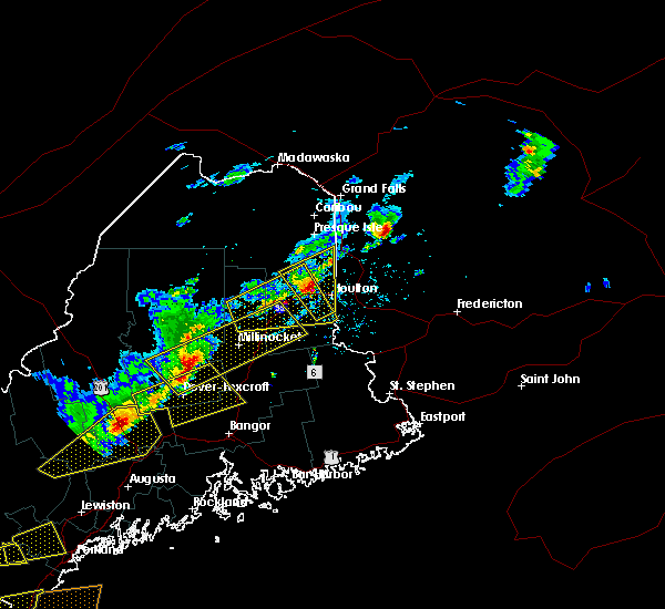 Radar Image for Severe Thunderstorms near Mars Hill, ME at 8/4/2015 3:44 PM EDT