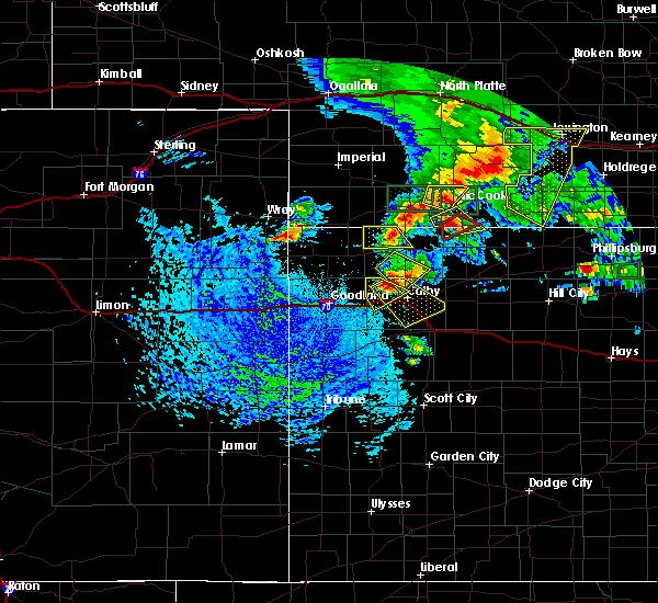 Radar Image for Severe Thunderstorms near Gem, KS at 8/4/2015 2:59 PM CDT
