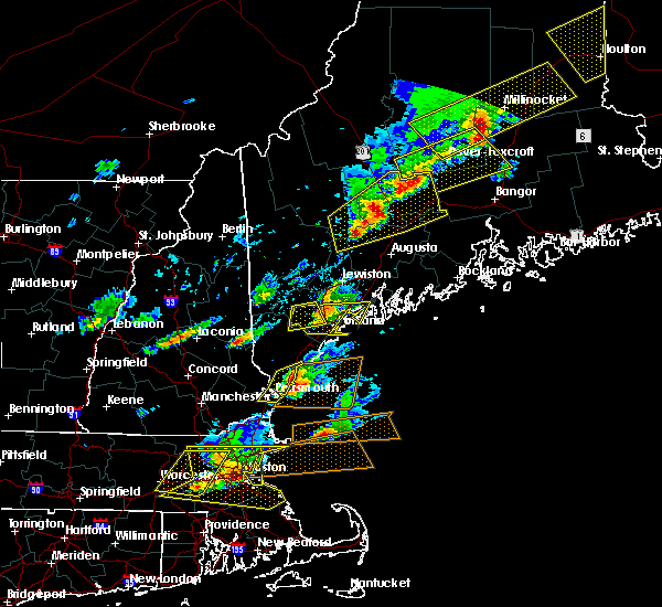 Radar Image for Severe Thunderstorms near Milo, ME at 8/4/2015 4:12 PM EDT