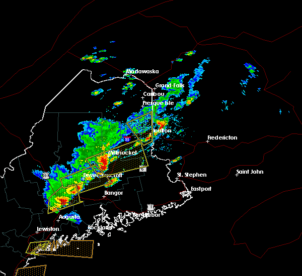 Radar Image for Severe Thunderstorms near Mars Hill, ME at 8/4/2015 4:26 PM EDT