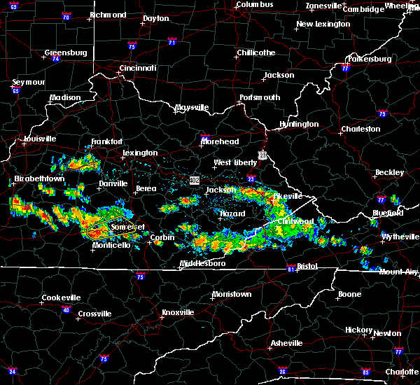 Radar Image for Severe Thunderstorms near Science Hill, KY at 8/4/2015 4:42 PM EDT