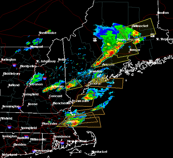 Radar Image for Severe Thunderstorms near Bath, ME at 8/4/2015 4:45 PM EDT