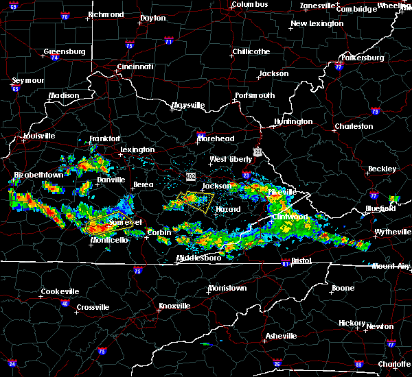 Radar Image for Severe Thunderstorms near Booneville, KY at 8/4/2015 4:54 PM EDT