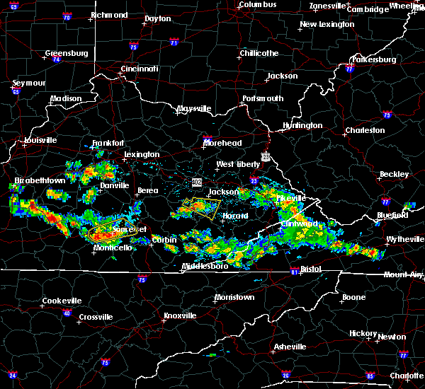 Radar Image for Severe Thunderstorms near Somerset, KY at 8/4/2015 4:58 PM EDT