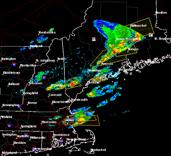 Radar Image for Severe Thunderstorms near Standish, ME at 8/4/2015 4:58 PM EDT