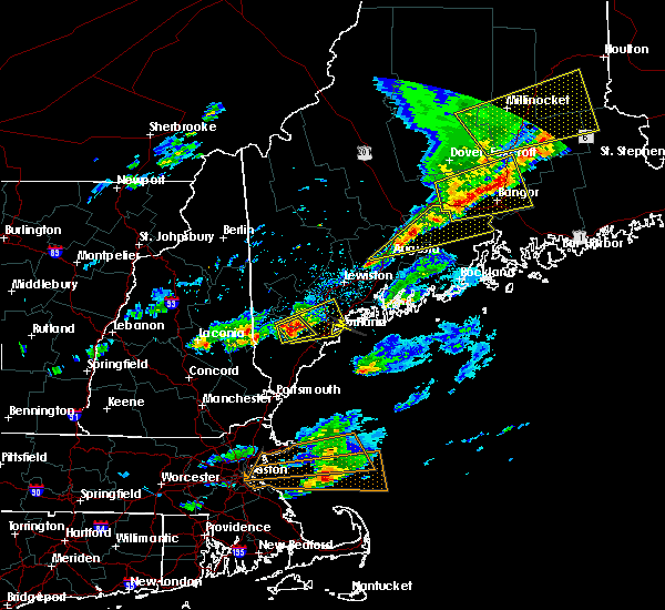 Radar Image for Severe Thunderstorms near Standish, ME at 8/4/2015 5:07 PM EDT