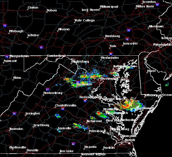 Radar Image for Severe Thunderstorms near Cloverly, MD at 8/4/2015 5:43 PM EDT