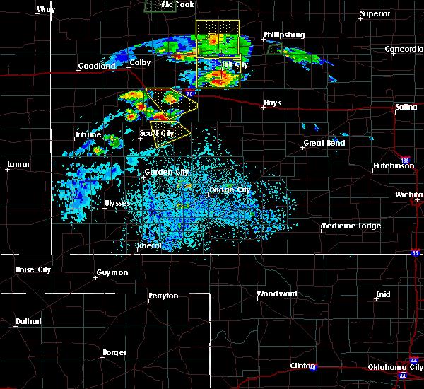 Radar Image for Severe Thunderstorms near Dighton, KS at 8/4/2015 4:53 PM CDT