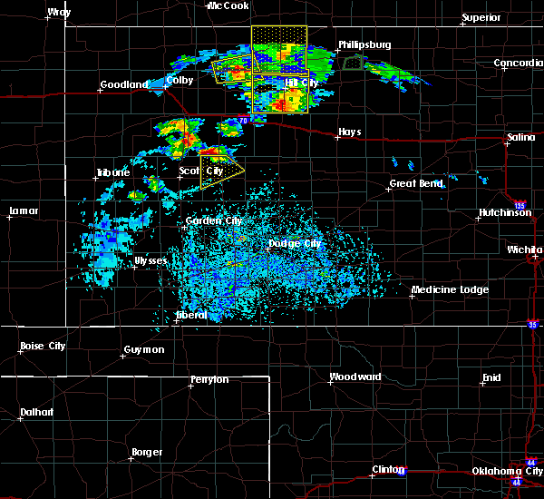 Radar Image for Severe Thunderstorms near Dighton, KS at 8/4/2015 5:06 PM CDT