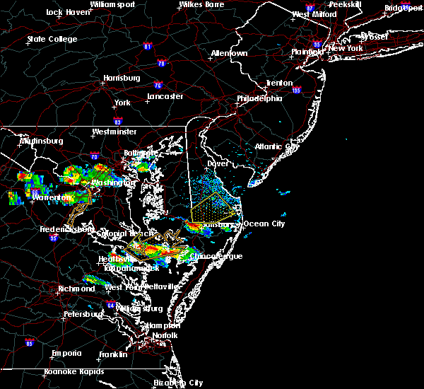 Radar Image for Severe Thunderstorms near Delmar, MD at 8/4/2015 6:23 PM EDT