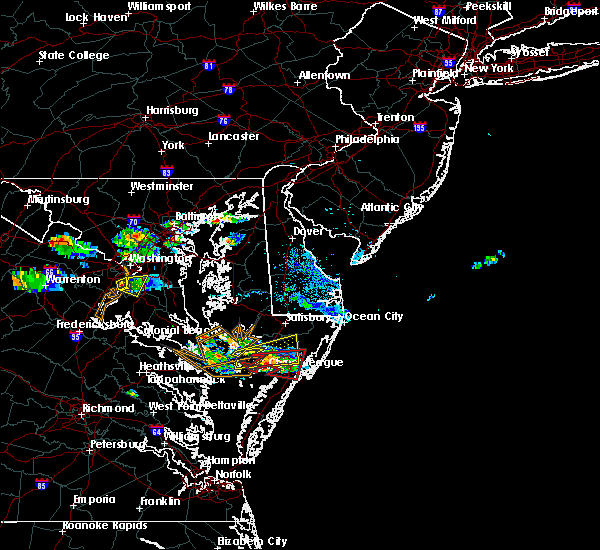Radar Image for Severe Thunderstorms near Captains Cove, VA at 8/4/2015 6:55 PM EDT
